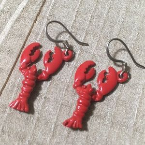 Red Lobster Dangle Earrings